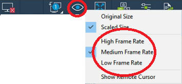 How to change the resolution or frame rate of the streamed