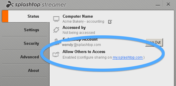 splashtop streamer pc